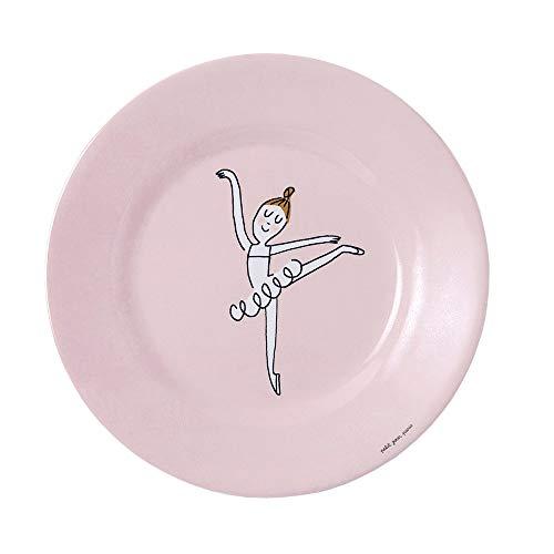 Petit Jour Paris DA921N Les Ballerines - Plato de postre con diseño de arabesco, color rosa