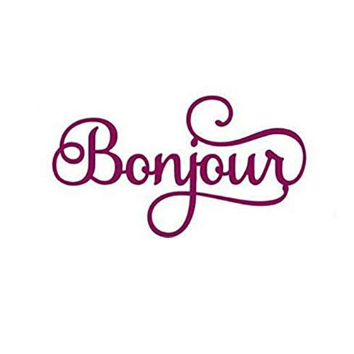 Bonjour French Words Phrases Cutting Dies Alphabet Letters Metal Cutting Dies For DIY Decorative Embossing Photo Album Card Making, Scrapbooking Supplies