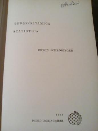 Termodinamica statistica