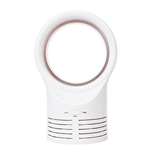 SHE.White Cool Blattlos Tischventilator Tragbar Ventilator Luft Fließen Kühlung Cool Ventilator Niedrig Niedrig Lärm Energieeffizienter Ventilator & Luftreinigungsgerät