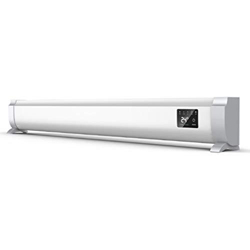 K-G Termoconvettore Stufa radiatore Convettori riscaldatore 6 impostazioni di Calore, Portatile Carry Manico Regolabile Termostato & Timer - L'Oro/Argento (Color : Silver, Size : 1500W)