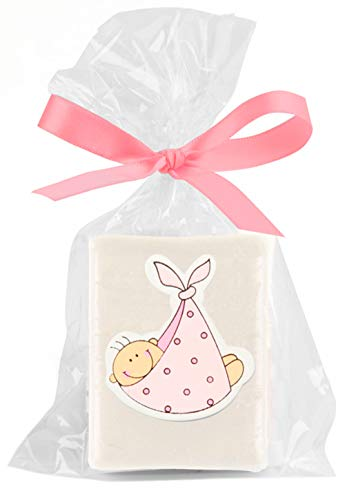 Baby-Seife in Geschenktasche + Schleife 25er-Packung, Rosa