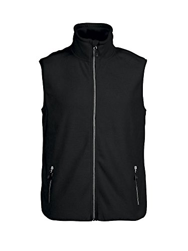 James Harvest - Chaleco de Forro Polar para Hombre, Peso Medio, 280 g/m², S-5XL, 7 Opciones de Color Azul Negro (XXXXXL