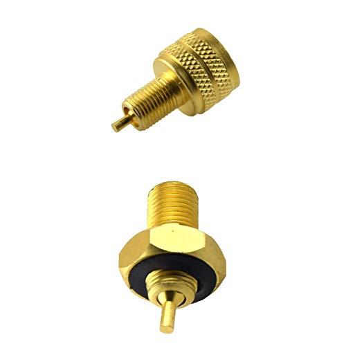 MagiDeal Conector Adaptador Reductor de Válvula de Orificio de Neumático de Alto Rendimiento de 2 Piezas (externo + Interno)