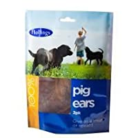 Hollings Pig ear 2pk 100% Natural Treat for dogs Sourced from selected Eu suppliers.