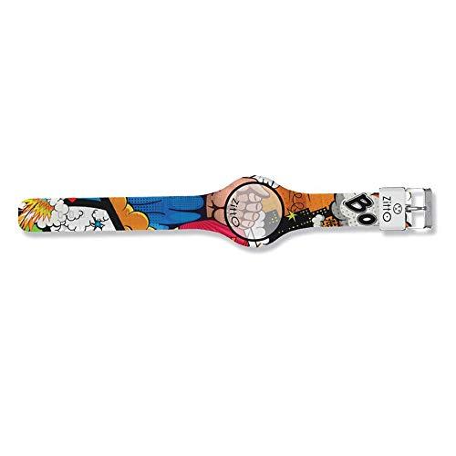 Orologio digitale piccolo ZITTO COMICS in silicone multicolore JUSTICEFIST-MB-MINI