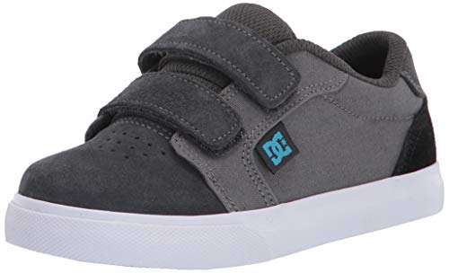 DC Boys' Anvil V Skate Shoe, Grey/Blue, 10 Medium US