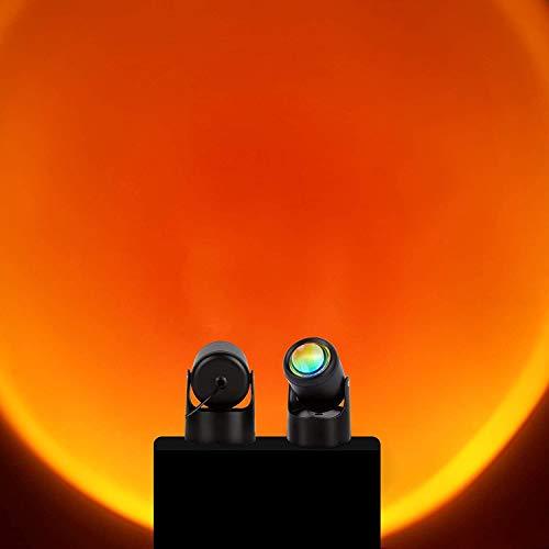 Sunset Lamp, Sunset Projection Lamp, LED Projector Lamp Light, Projector Lights 180° Rotation Romantic Visual Mood Lamp Lighting Bedroom Decoration