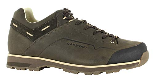 Garmont Miguasha Low Nubuk FG Chaussures de randonnée pour homme avec doublure en cuir - Vert - vert olive, 12.5
