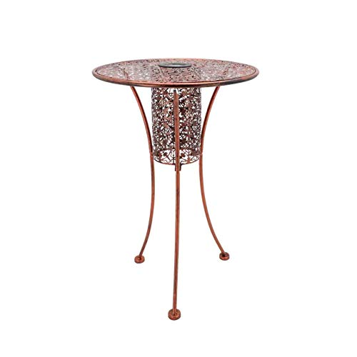 ColdShine Garden Terrace Table Bistro Dining Table Round Garden Table Cast Iron Metal Weatherproof Garden Terrace Outdoor Antique Table Bistro Patio Dining Table