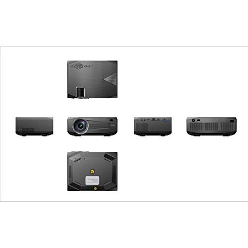 Proyector pequeño mini portátil para el hogar 1080P, proyector de viaje en casa adecuado para Mac/PC/TV/película/GAMES con entrada USB/SD/AV/HDMI/VGA/MHL).