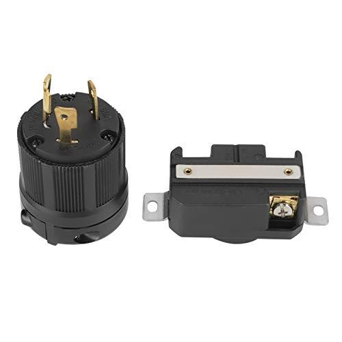 Enchufe macho L6-30P, NEMA L6-30P L6-30R 30A 250V Cerradura giratoria Conector de...