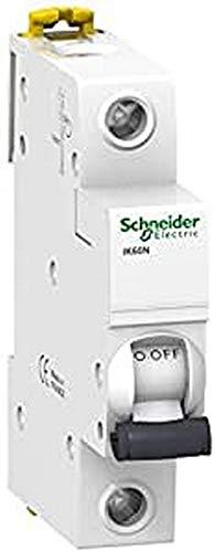 Schneider Electric A9K17116 IK60N Interruptor Automático Magneto Térmico, 1P, 16A, Curva C, 78.5mm x 18mm x 85mm, Blanco