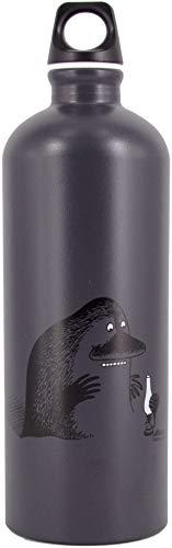 SIGG X Moomin Mörkö Cantimplora infantil (1.0 L), botella para niños sin sustancias nocivas y con tapa hermética, cantimplora ligera de aluminio fabricada en Suiza