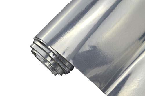 Neoxxim 24,22€/m2 Premium - Auto Folie - Chrom Silber Glanz GLÄNZEND 30 x 150 cm- blasenfrei mit Luftkanälen ca. 0,15mm dick