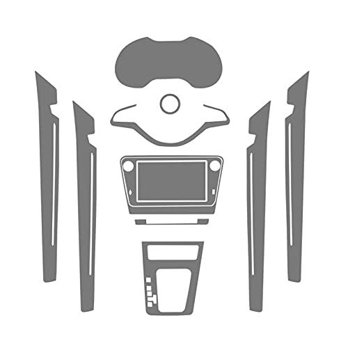 ZHIXIANG Ajuste para Skoda Octavia A7 2019 Coche GPS Navegación Película Protectora Pantalla LCD TPU Pantalla Protectora Protector Pegatinas de decoración (Color Name : Full Set)