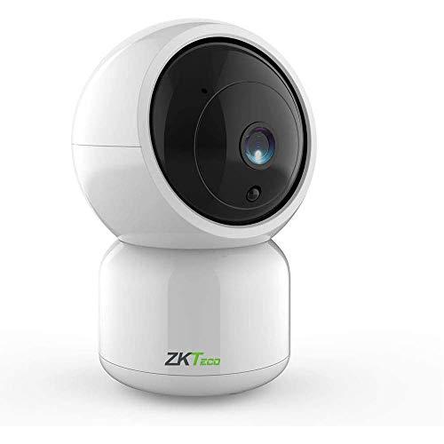 ZKT eco Camara de Seguridad Camaras wifi 360 Interior Camara de vigilancia para Bebe Monitor Casa Hogar Mascotas Perros con Vision Nocturna Almacenamiento Nube Tiempo Real con Alarma Audio Bidireccional 1080P Panorámica Compatible iOS Android MC1
