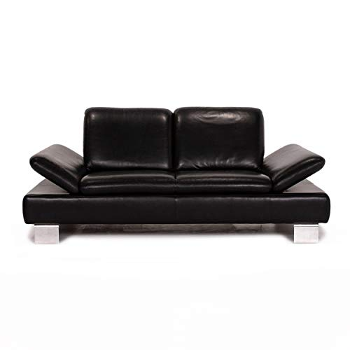 Willi Schillig Treasure PF Leder Sofa Schwarz Dreisitzer Funktion Couch #12626