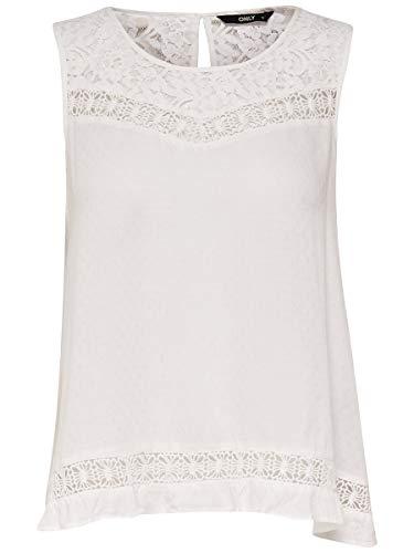 ONLY NOS Damen Onlanemone S/L WVN Noos Top, Weiß (Cloud Dancer), 36 (Herstellergröße: S)