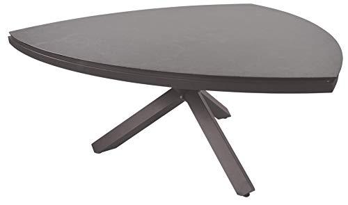 Lesli Living Gartentisch Tisch Mojito Ceramic Pardo dreieckig 170x170cm beige/grau