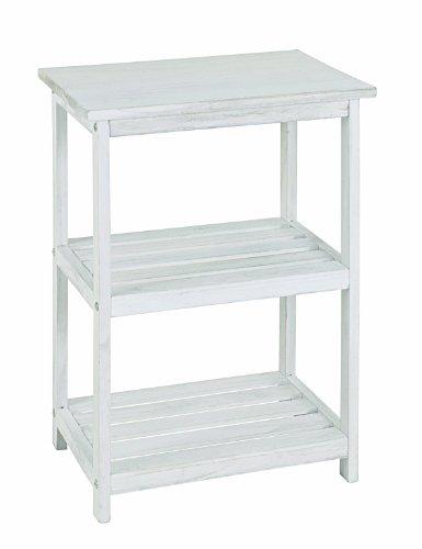 HAKU Möbel 26318 Regal 42 x 30 x 62 cm, weiß gewischt
