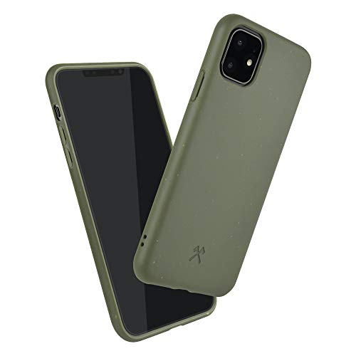 Woodcessories - Bio Hülle kompatibel mit iPhone 11 - Nachhaltig, biologisch abbaubar - BioCase Grün