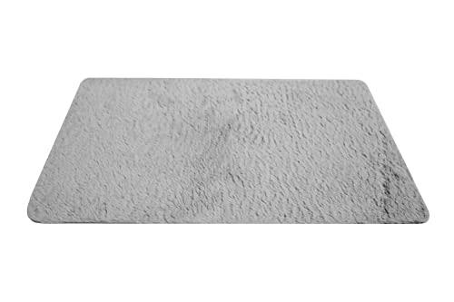 NNGT Alfombra Antideslizante Pelusa Suave Alfombra para salón Dormitorio o Baño Alfombra Dormitorio Pequeña (40x60cm) (Grey)