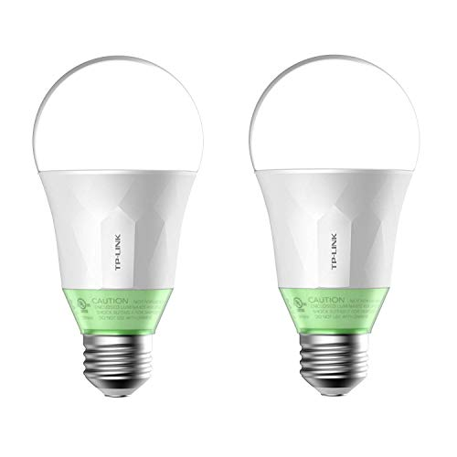TP-Link 60W Energy Saving Smart Wi-Fi LED Light Bulb w/Dimmable Light (2 Pack)