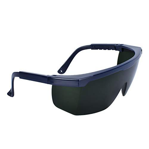 Mufly Schweißerbrille Schweißer Sicherheitsbrillen,klappbar,Anti-Flog,Anti-Shock,Blendschutz,Schutzgläser für Schweißer mit transparenter und schwarzer Brille(IR5.0) - 3