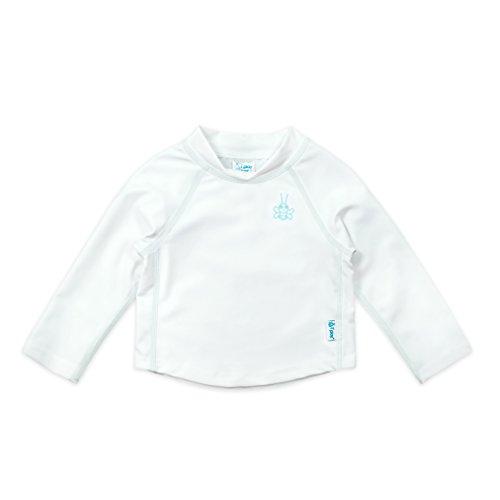 i play. Baby Long Sleeve Rashguard Shirt, White, 6 Months