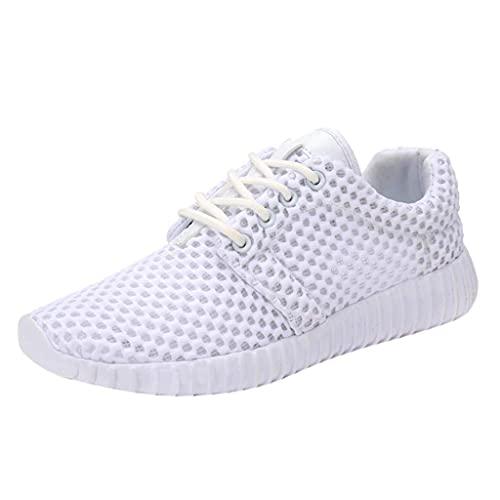 HUADUO Zapatos para Correr Antideslizantes para Hombres y Mujeres Zapatillas de Tenis para Gimnasio Ultra atléticas Zapatillas para Caminar Casuales de Malla