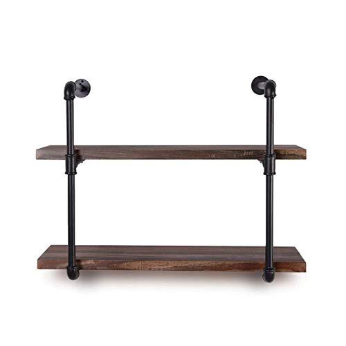 zyl Rustic Hanging Shelf 2 Tier Household Wood Wall Shelf Wall Shelf For Kitchen Bedroom Bathroom Hallway Office Brown 20