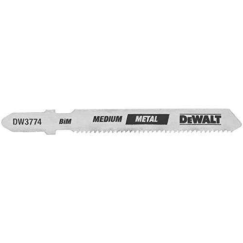 DEWALT DW3774-5 3-Inch 18TPI Medium Metal Cut Cobalt Steel T-Shank Jig Saw Blade (5-Pack)