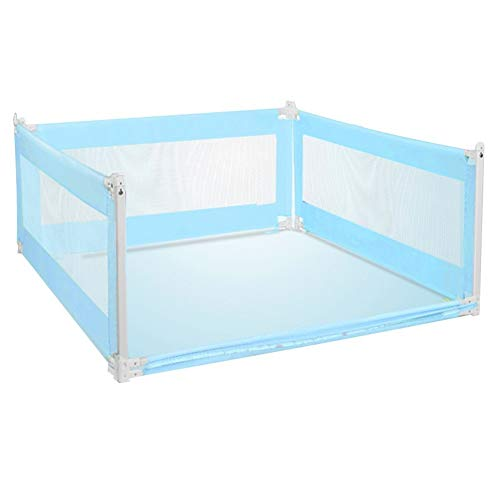 Learn More About XJJUN-Bed rail Drop-Proof Baby Fence 3-Side Protection Safety Height Adjustable Sil...
