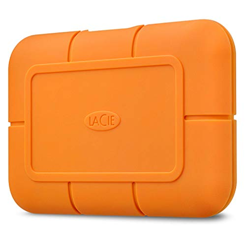 LaCie Rugged SSD 500GB Solid State Drive — USB-C USB 3.2 NVMe speeds up to 1050MB/s, IP67 Water Resistant, 3m Drop…