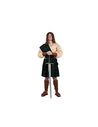 DISBACANAL Disfraz de escocs Verde para Hombre - -, L