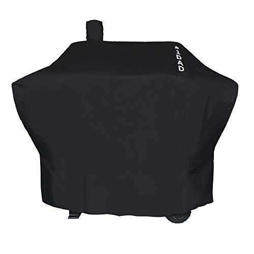iCOVER-Grill-Smoker-Cover Sized for Char Griller Wrangler Grill Smoker 2823, 2123 600D Heavy Duty Canvas Water Proof All Weather Off-Set Charcoal Smoker Cover G21616