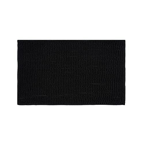 Montse Interiors, S.L. Tapis antidérapant en Microfibres - pour Salle de Bains/Chambre - Design « Hugo » - Gris - 40 x 60 cm