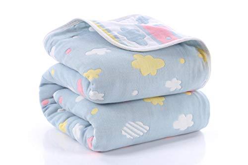 Suave transpirable bebé manta recién nacido productos 6 capas muselina algodón crecimiento bebé edredón recién nacido bebé baño Swaddle Wrap 90*110cm