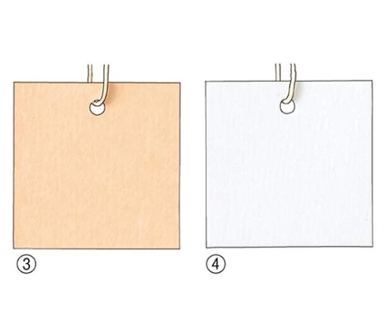 耐える対称語アズワン パック再生紙さげ札(生成糸付き) 3×3cm ホワイト/61-7254-08