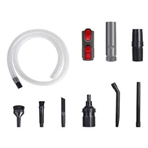 IUCVOXCVB Accesorios de aspiradora Ajuste para Dyson V8 V8 V8 V11 Cableador de aspiradora Reemplazo de Tubo de succión Plana Cabeza adaptadora (Color : Gray)