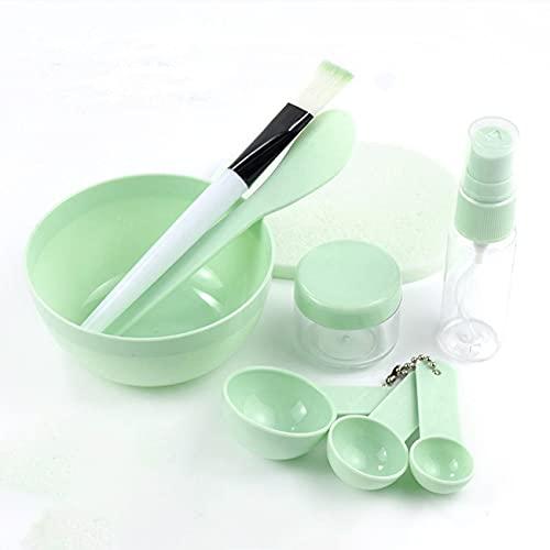 Ashley GAO 9-teilige Maskenschüssel zum Selbermachen Maskenschüssel, Maskenpinsel, Schönheitswerkzeug, hausgemachte Gesichtsmaske, Stick-Sprühflasche, Dosierlöffel, Blasenflasche