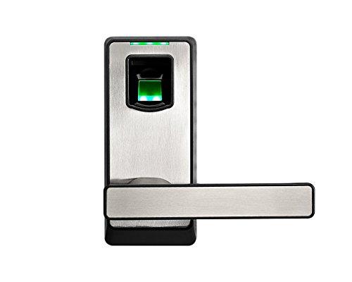 Cerradura Inteligente & Biométrica Keyless con cerrojo de doble cilindro - ZKTeco PL10B (US) - Smart lock con Huella Dactilar - Bluetooth 4.0 - Smartphone App