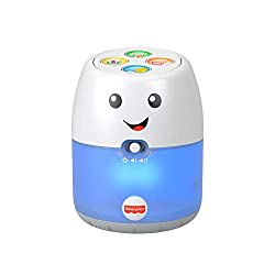 "​Pretend hub toy with lights, music and learning phrases ​​Hub ""responds"" to baby's babbles or noises (Must be in active mode to respond.) ​4 buttons on top activate animal sounds, musical playlist, and learning songs and phrases about the alphabet, ..."