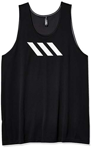 adidas Sport Camiseta de Tirantes para Hombre con 3 Rayas, Hombre, Camisa, FL0951, Negro, XXL Tall