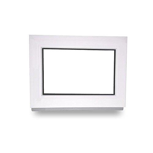 BxH: 50x40 cm Breite: 50 cm Premium Kunststoff Wei/ß FIB 2 Fach Verglasung Kellerfenster Festverglasung