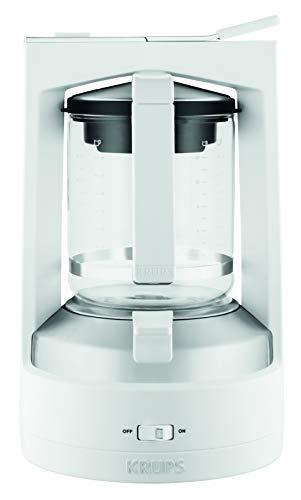 Krups KM4682 Filterkaffeemaschine T8 | 850 Watt | Automatische Abschaltung | 8-12 Tassen | Beleuchteter Ein-/ Ausschalter | Weiß
