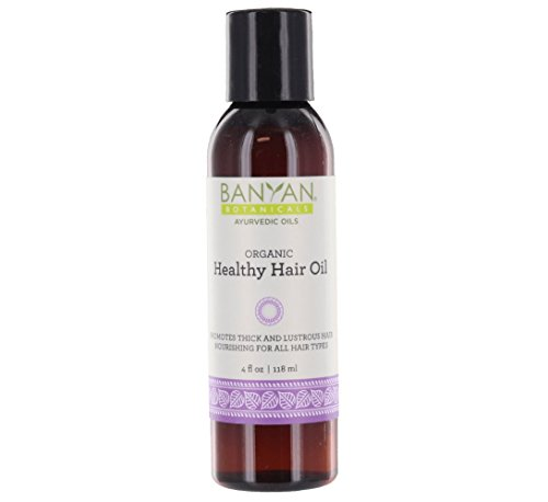 Banyan Botanicals Healthy Hair Oil – Organic Herbal Oil with Bhringaraj & Amla – Ayurvedic Hair Care for Strong, Thick, Lustrous Hair & for Scalp Massage – 4oz. – Non GMO Sustainably Sourced Vegan