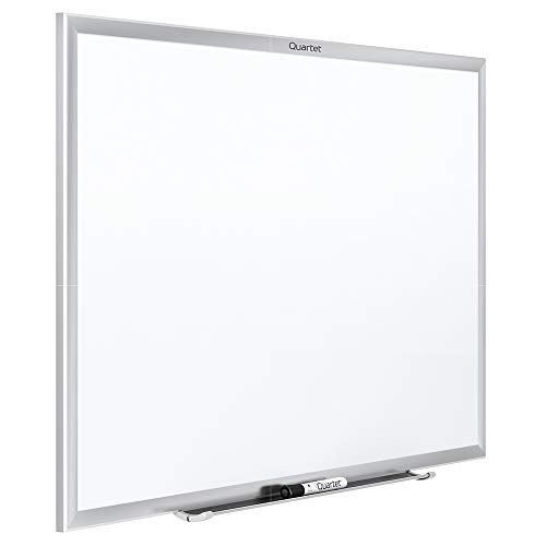 Quartet Magnetic Whiteboard, 6 x 4 feet White Board, Dry Erase Board, Classic Series, Silver Aluminum Frame (SM537)