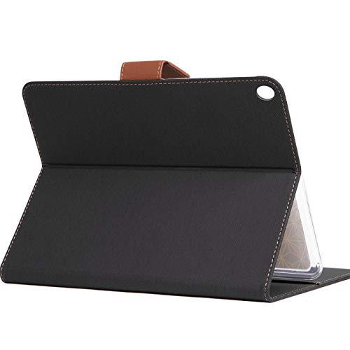 Verco Hülle für Huawei Mediapad M5 - M5 Pro, Schutzhülle Tablet Tasche Standfunktion Cover PU Leder [10,8 Zoll], Schwarz - 4